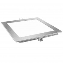 DOWNLIGHT LED CUADRADO PLATA 12w.FRIA