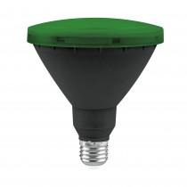 BOMB.LED PAR 38 IP65 E27 15w. VERDE