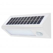 APLIQUE LED SOLAR BLANCO SENSOR 27CM 8W