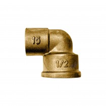 "CODO LATON SOLDAR R/HEMBRA 1/2"" x 22 mm."