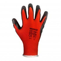 GUANTE LATEX WORKFIT ROJO-NEGRO  9""