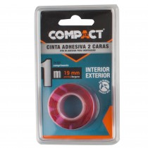 CINTA ADHESIVA 2 CARAS 1m.x19 COMPACT