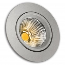 ARO LED COB ALUM.BASC.RED.PLATA 5w.CALID