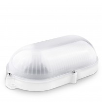 APLIQUE LED OVAL BLANCO EXT.IP65 9w.NEUT