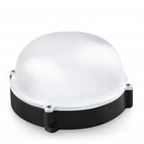 APLIQUE LED REDONDO NEGRO EXT.IP65 12w.N