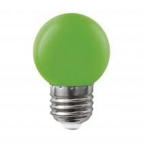 BOMBILLA LED ESFERICA E27 1,5w VERDE