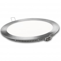 DOWNLIGHT LED REDONDO PLATA  9w.FRIA