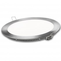 DOWNLIGHT LED REDONDO PLATA  9w.NEUTRA